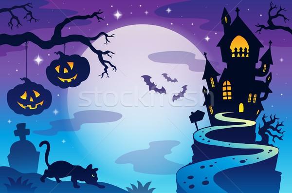 Halloween argomento cielo design luna sfondo Foto d'archivio © clairev