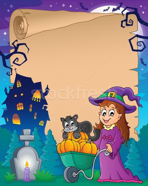 Halloween parchment 6 Stock photo © clairev