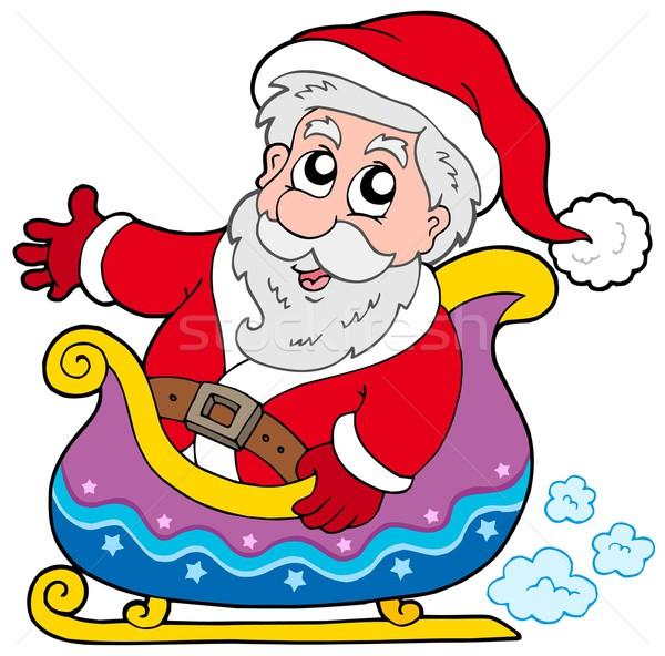 Santa Claus on sledge Stock photo © clairev