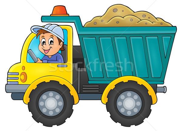 Sand truck theme image 1 Stock photo © clairev