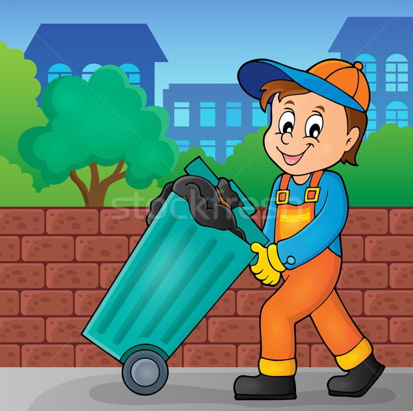 Garbage collector theme image 2 Stock photo © clairev