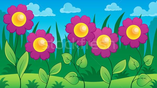 Virágok legelő tavasz természet művészet nyár Stock fotó © clairev