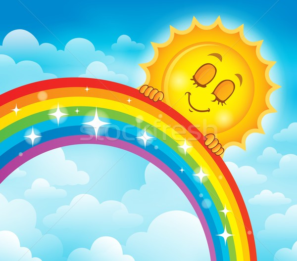 Rainbow sujet image ciel printemps soleil Photo stock © clairev