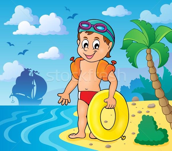 Little swimmer theme image 3 Stock photo © clairev