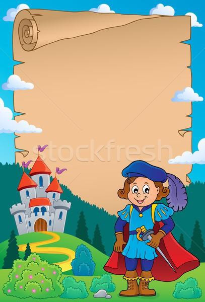 Pergamen herceg papír művészet fiú ruházat Stock fotó © clairev