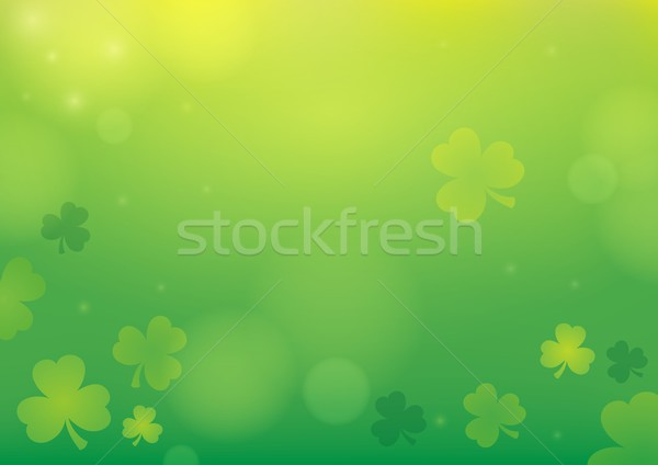 Three leaf clover abstract background 1 Stock photo © clairev