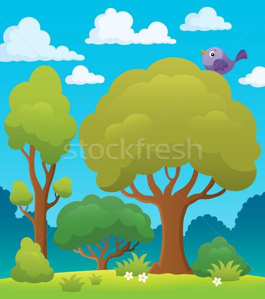 дерево тема изображение деревья лет птица Сток-фото © clairev