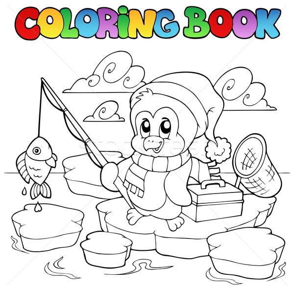 Libro · para · colorear · pesca · pingüino · libro · peces ...