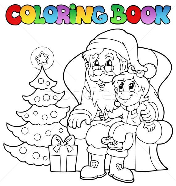 Libro · para · colorear · papá · noel · árbol · libro · nino ...