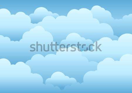 Cloudy sky background 3 Stock photo © clairev