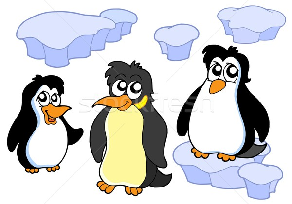 Penguins collection Stock photo © clairev