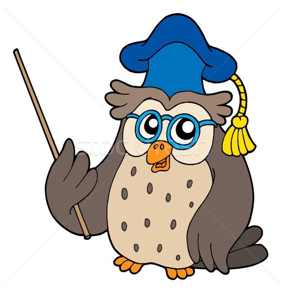 Owl teacher vector illustration Stock photo © clairev