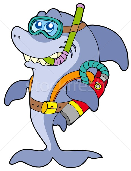 Shark scuba diver Stock photo © clairev
