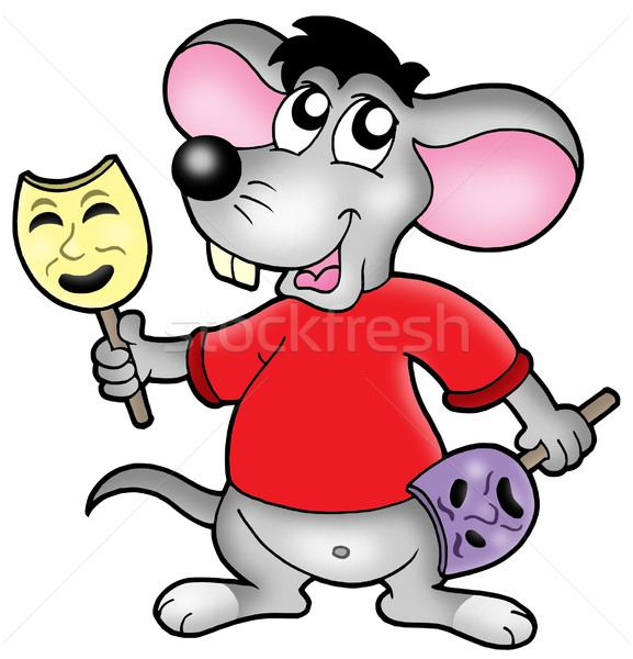 Caroon mouse actor Stock photo © clairev