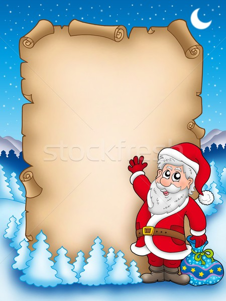 Christmas parchment with Santa Claus 5 Stock photo © clairev