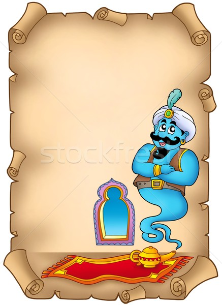 Old parchment with genie Stock photo © clairev
