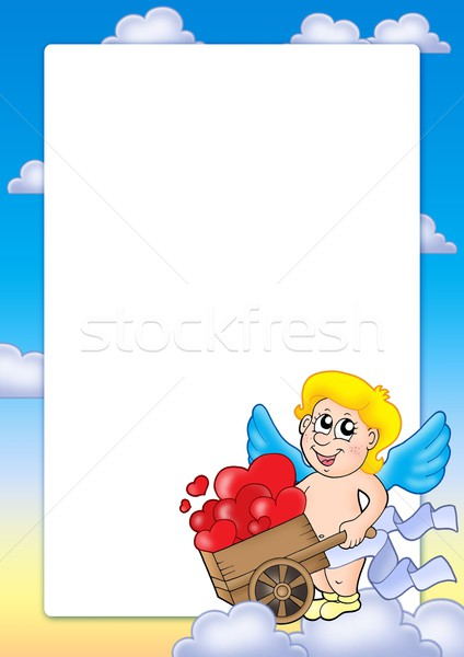 Valentin nap keret szín illusztráció mosoly szív Stock fotó © clairev