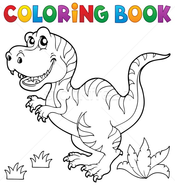 Coloring book dinosaur theme 5 Stock photo © clairev