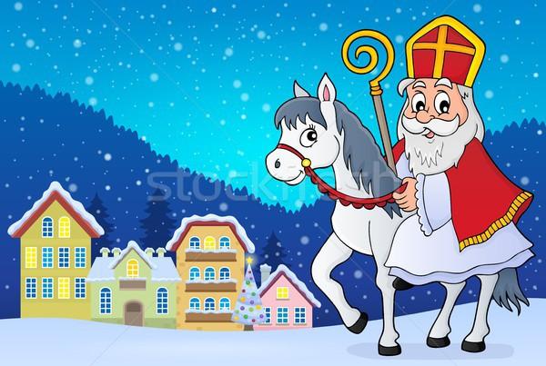 Stock photo: Sinterklaas on horse theme image 2