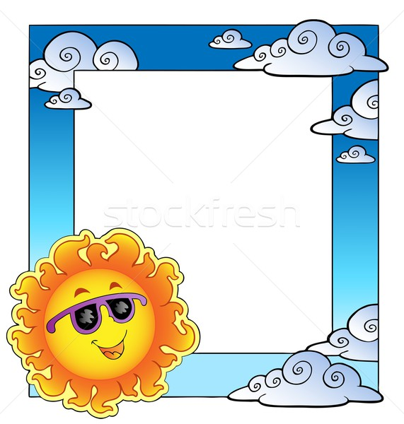 Stock photo: Frame with summertime theme 2