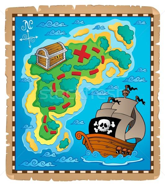 Карта сокровищ изображение бумаги дизайна лодка графических Сток-фото © clairev