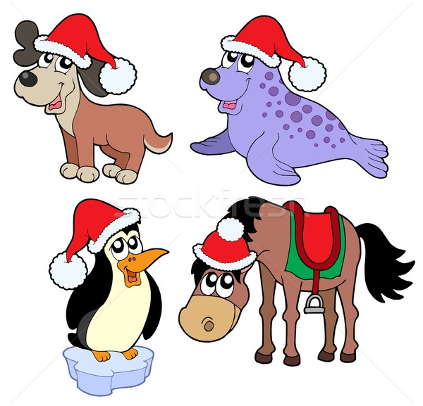 Christmas animals collection - Stock photo © clairev