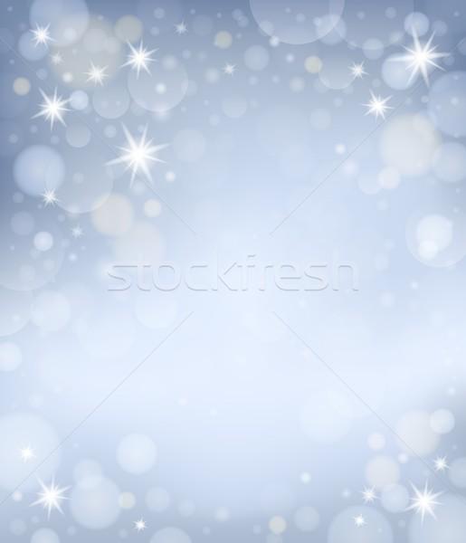 Soyut gümüş dizayn sanat grafik kavram Stok fotoğraf © clairev