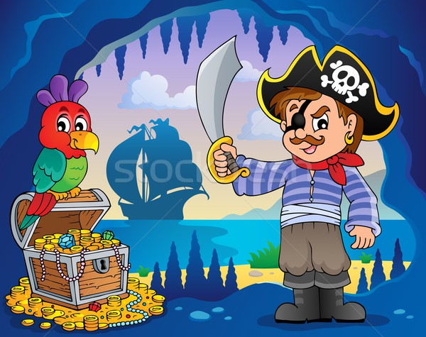 Pirate cove topic image 2 Stock photo © clairev