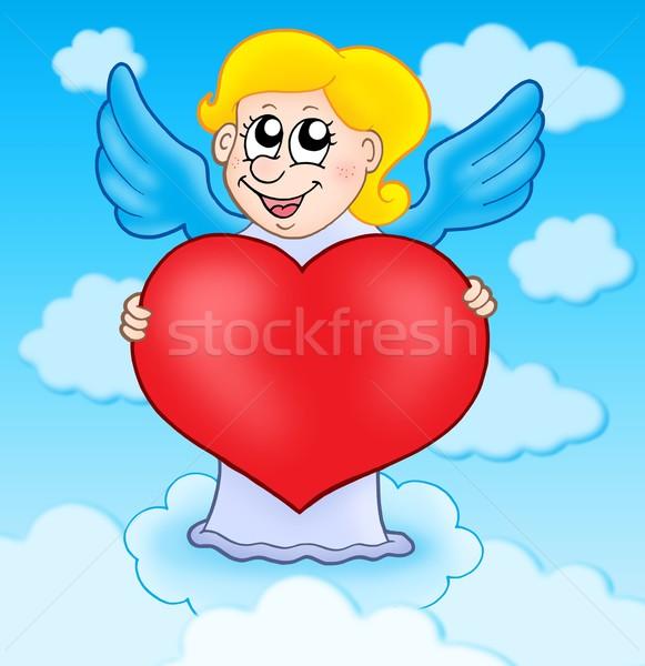 Tart szív égbolt szín illusztráció mosoly Stock fotó © clairev