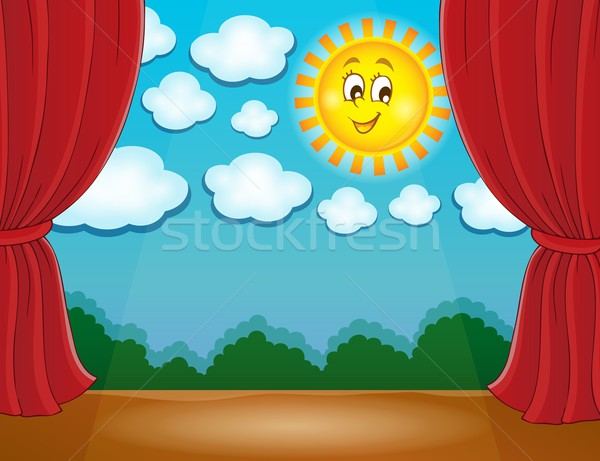 Stage with happy sun 2 Stock photo © clairev