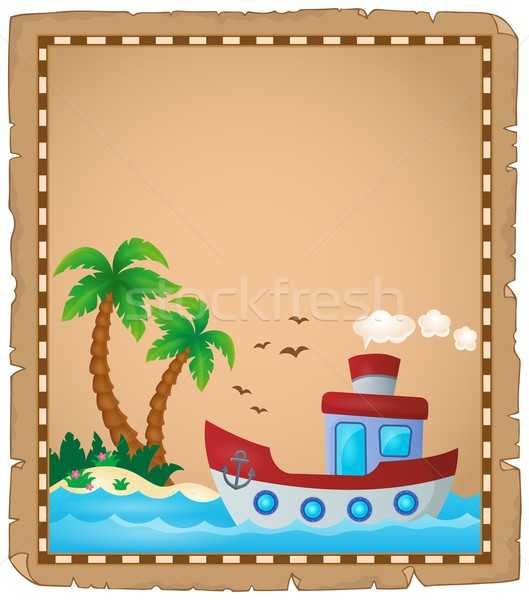 Parchment with nautical boat theme 2 Stock photo © clairev
