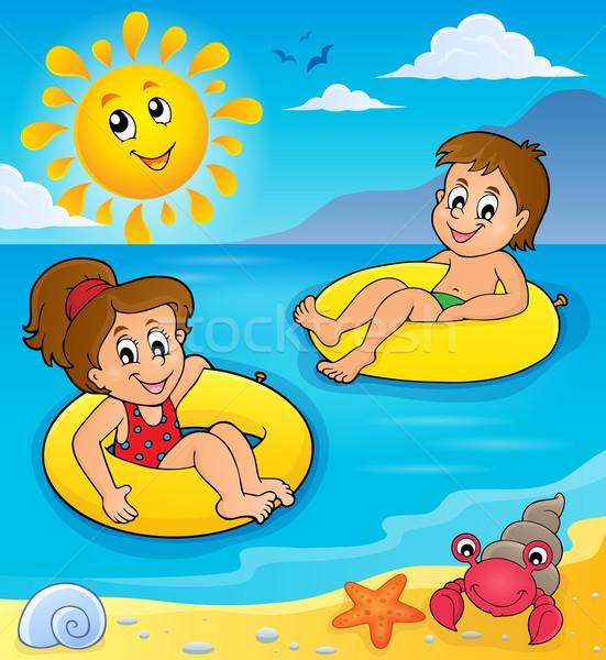Children in swim rings image 2 Stock photo © clairev