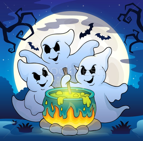 Ghosts stirring potion theme image 2 Stock photo © clairev