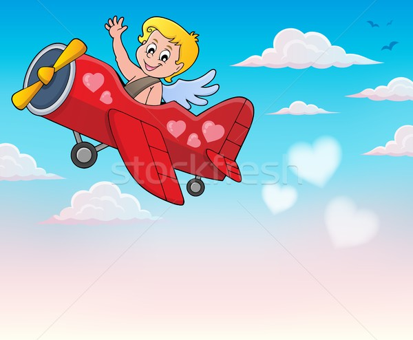 Airplane with Cupid theme image 4 Stock photo © clairev