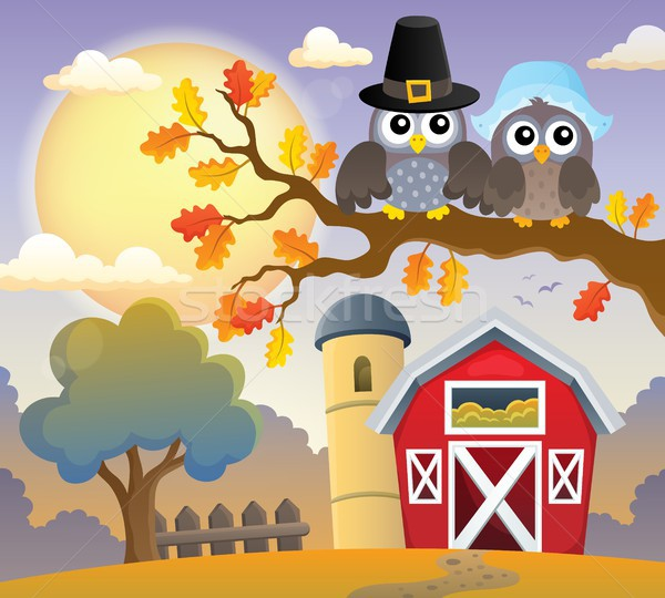 Thanksgiving owls thematic image 3 Stock photo © clairev