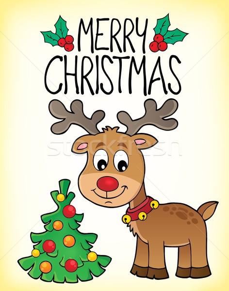 Neşeli Noel konu görüntü ağaç dizayn Stok fotoğraf © clairev