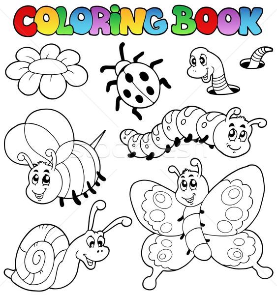 Boyama Kitabi Kucuk Hayvanlar Kitap Doga Boya Vektor
