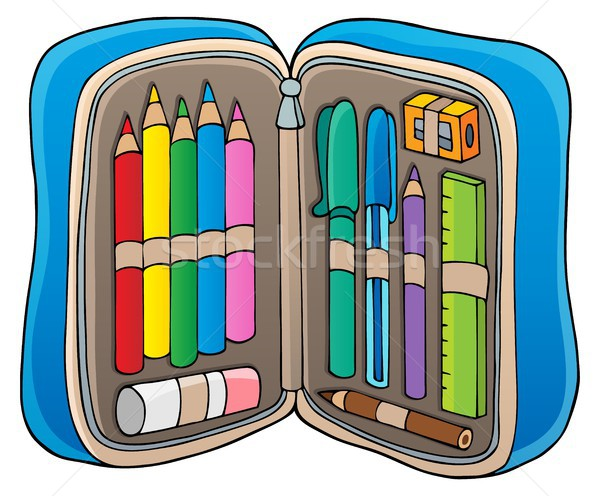 Pencil case theme image 1 Stock photo © clairev