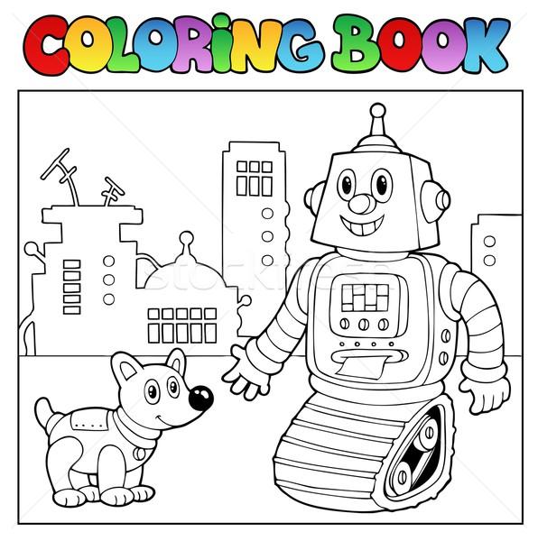 Libro Para Colorear Robot Sonrisa Libro Pintura