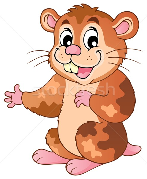 Cute cartoon hamster Stock photo © clairev