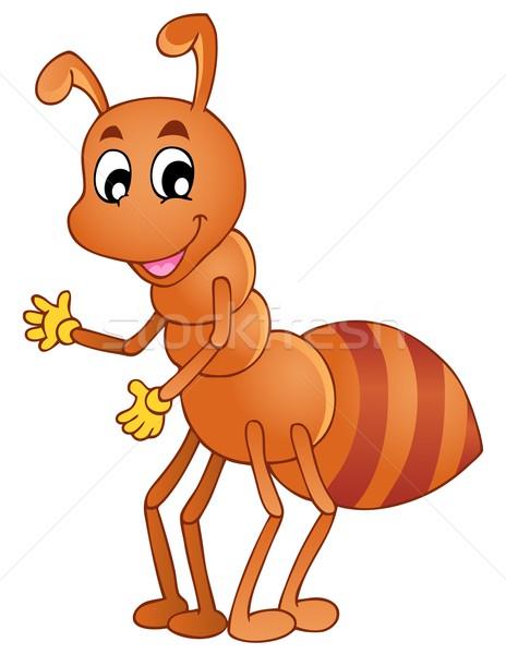 Cartoon souriant fourmi heureux nature art Photo stock © clairev
