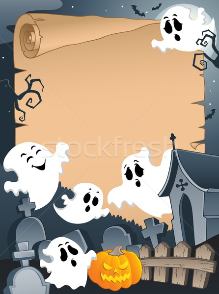 Scene with Halloween parchment 4 Stock photo © clairev