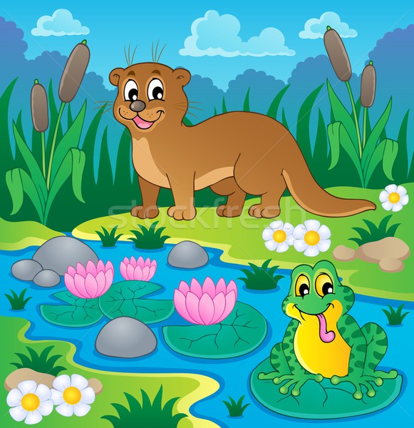 River fauna theme image 1 Stock photo © clairev