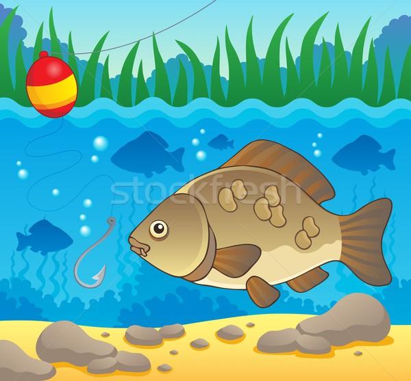 пресноводный рыбы изображение воды природы искусства Сток-фото © clairev