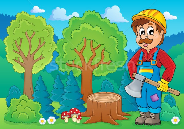 Image with lumberjack theme 2 Stock photo © clairev