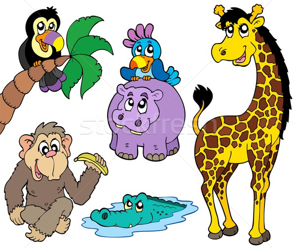 Set of African animals 2 Stock photo © clairev