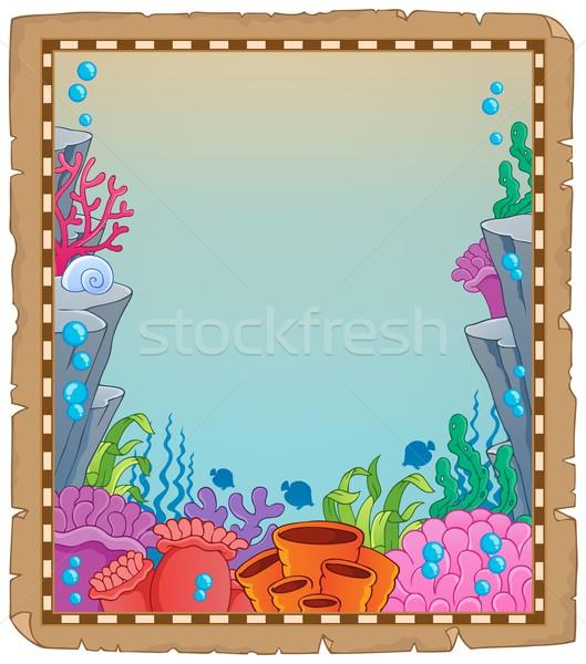 羊皮紙 水中 自然 デザイン 夏 海 ストックフォト © clairev