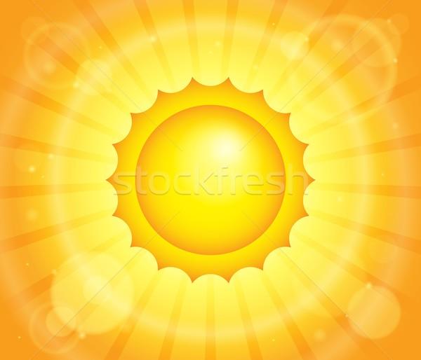 Photo stock: Résumé · soleil · image · fond · orange · vacances
