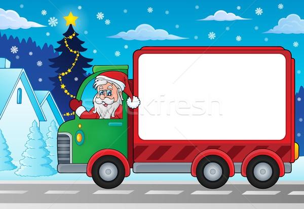 クリスマス 配信 車 画像 幸せ 芸術 ストックフォト © clairev