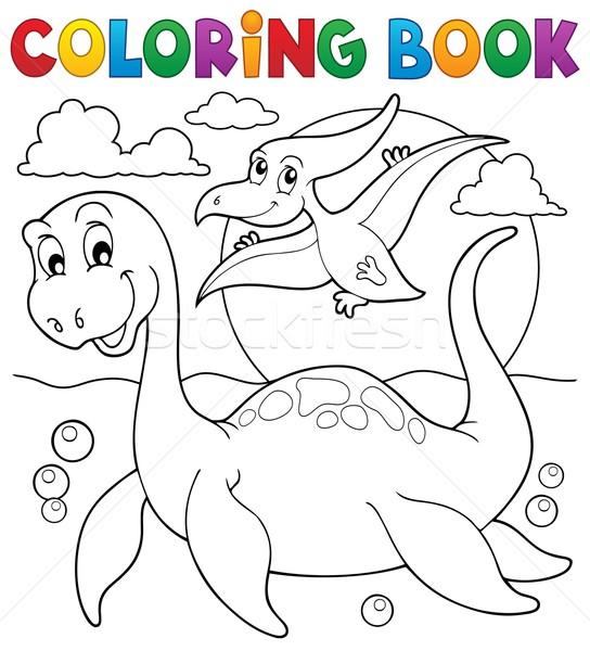 Coloring book dinosaur theme 7 Stock photo © clairev
